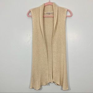 GAP | Sleeveless Cream Knit Comfy Sweater Vest